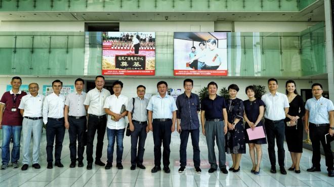 江苏省台办副主任芮经忠一行参访东南卫视、海峡卫视