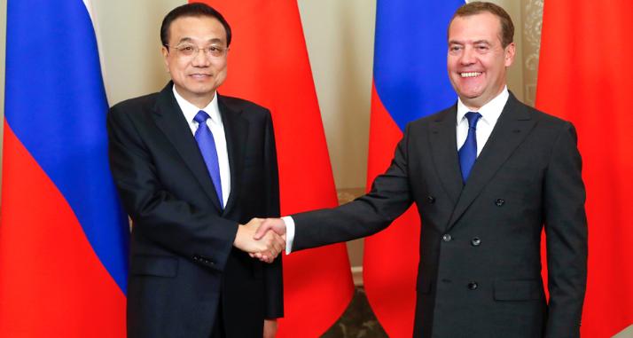 李克强同俄罗斯总理梅德韦杰夫共同主持中俄总理第二十四次定期会晤
