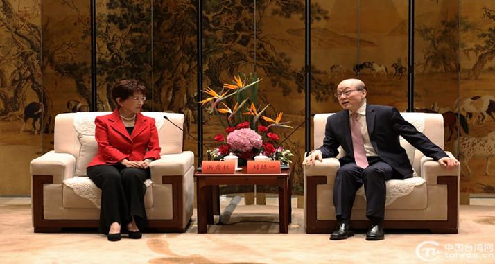 刘结一会见中国国民党前主席洪秀柱