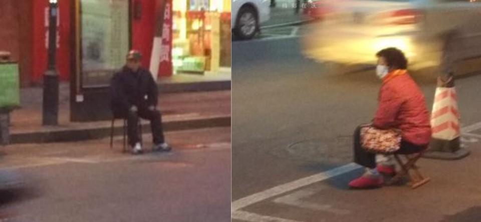 南京老夫妻风中轮流蹲守为儿子占车位