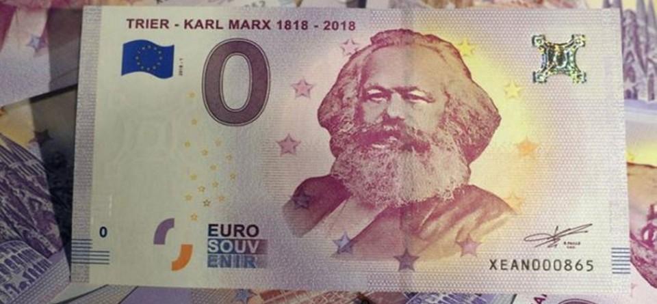 德发行零欧元马克思纪念钞 首发售罄正紧急加印