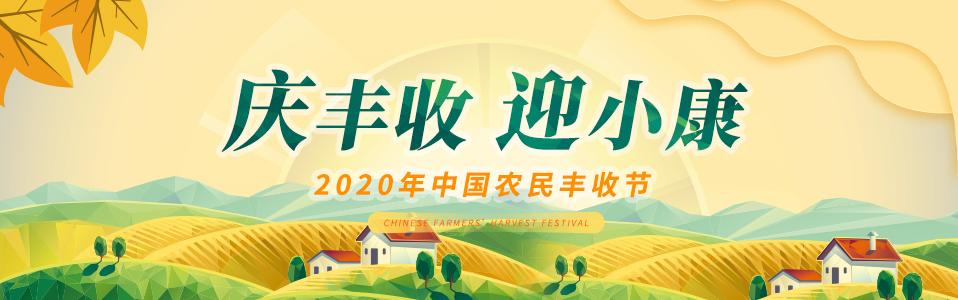 """庆丰收 迎小康 """"2020年中国农民丰收节"""""""