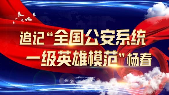 """追记""""全国公安系统一级英雄模范""""杨春"""