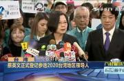 蔡英文正式登记参选2020年台湾地区领导人